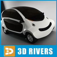 3d 3ds futuristic car peapod