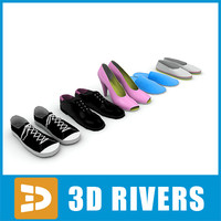 set shoes 3d model