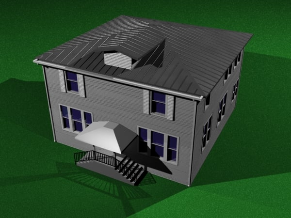 3d model style house