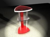 table wheels 3d lwo