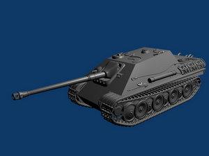 3d model german destroyer jagdpanther