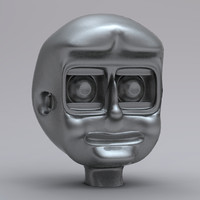 simple robot head obj free