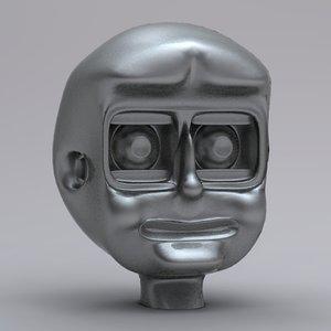 simple robot head obj free