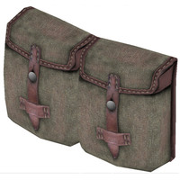 wwii ammunition pouch 3d model