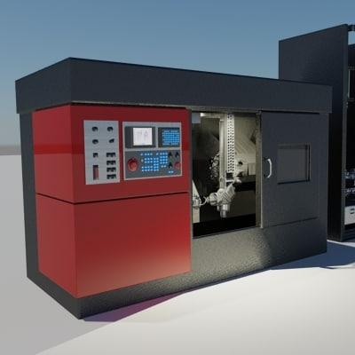 industrial machines 3d model