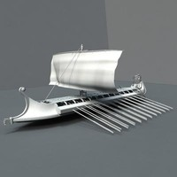 3d model war ship greek ancient