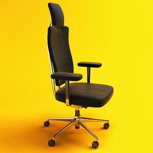 headline office chair vitra 3d model