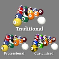 Low Poly Billiard Balls Collection