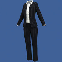 realistic female suit 3d model