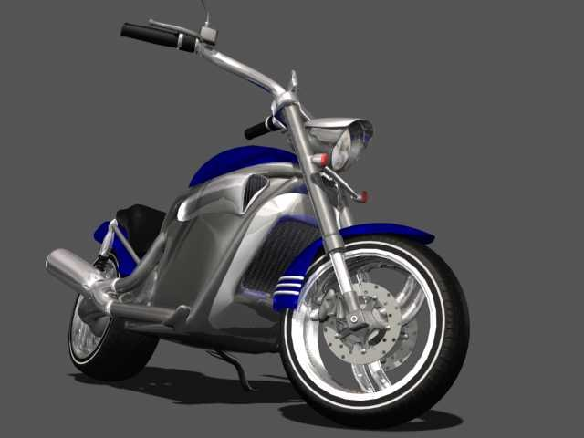 medium motorcycle 3d max