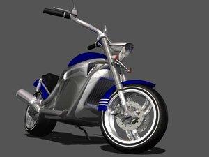 medium motorcycle 3d max