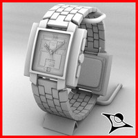 3d watch modelled model
