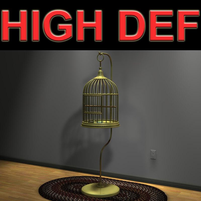 bird cage 3d model