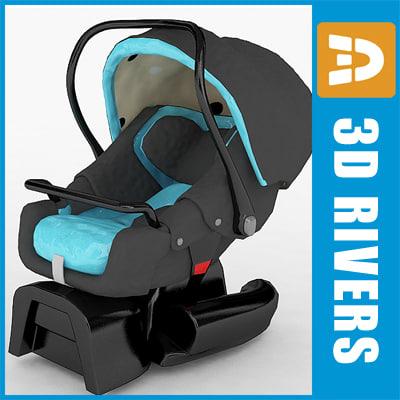 3d model infant car seat