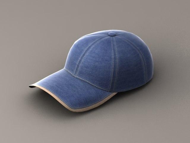 baseball cap 3d max