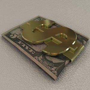 3d model money dollar bill