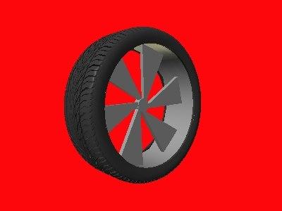 free 3ds model custom wheel