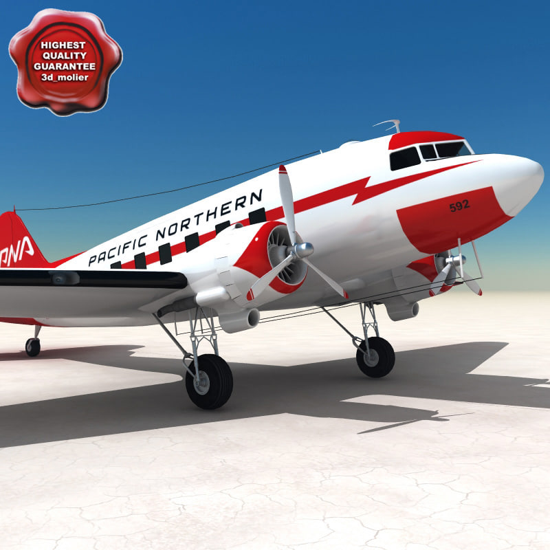 3d model douglas dc-3 aircraft