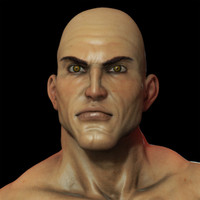 3d model jax male character upper