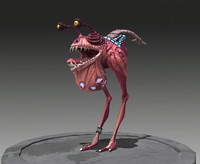 3d ma fully rigged creature scene files