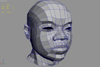 3ds african male head