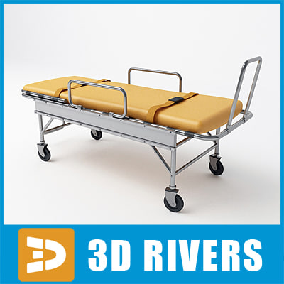 3d model medical stretcher