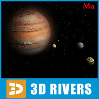 3d photoreal jupiter model