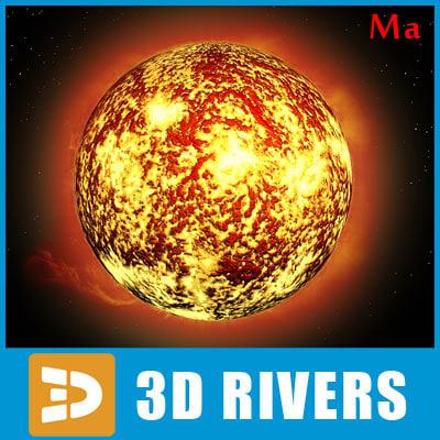 3d model photoreal sun