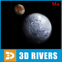 photoreal pluto 3d x