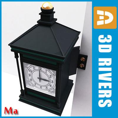 wall clock old 02 3d ma