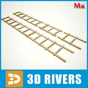 free draw stepladder 3d model