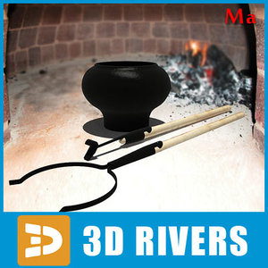 railway ovens 01 3d model