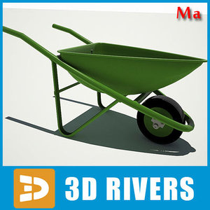 3d village wheelbarrow model