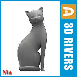 polygonal cat fbx