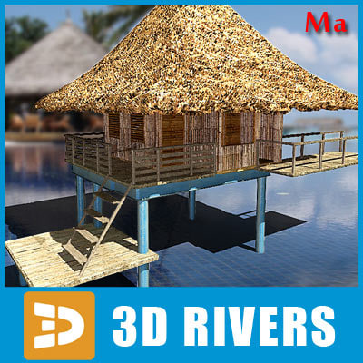 3d bungalow island items
