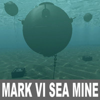 Mark VI Sea mine Model and Scene