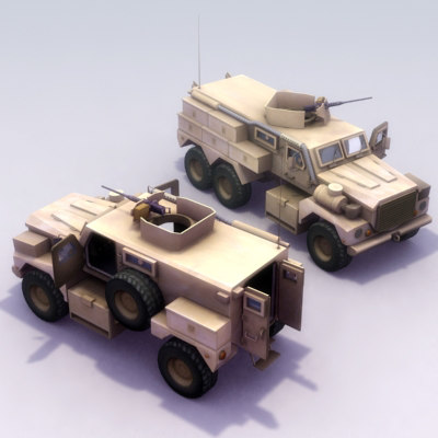cat-i cat-ii cougar mrap 3d model