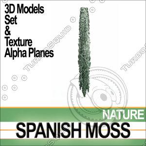 spanish moss complete set 3d obj
