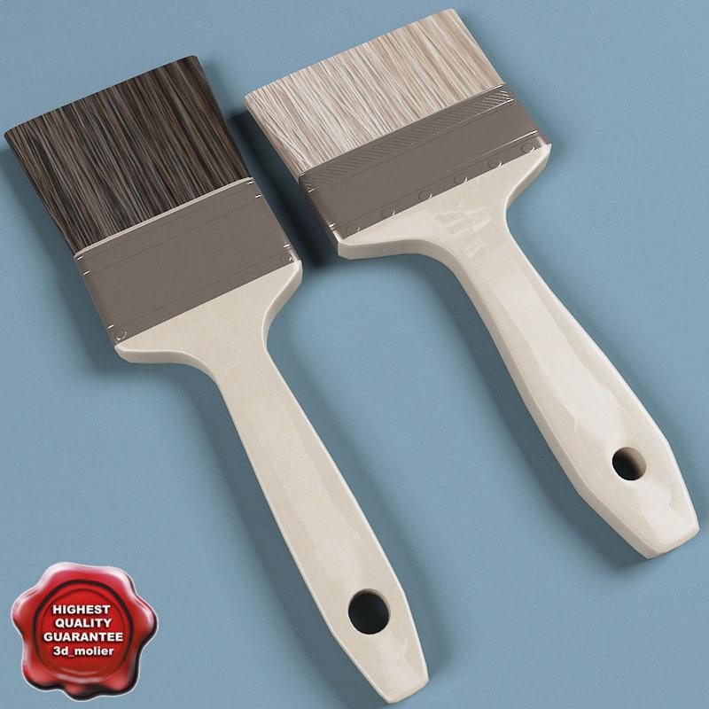 paintbrushs modelled 3d model
