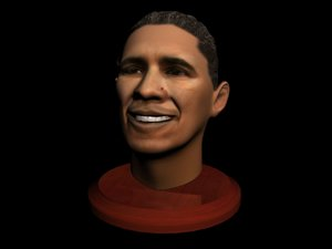 3d barack obama face