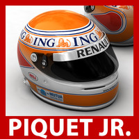 nelson piquet jr f1 helmet 3d 3ds