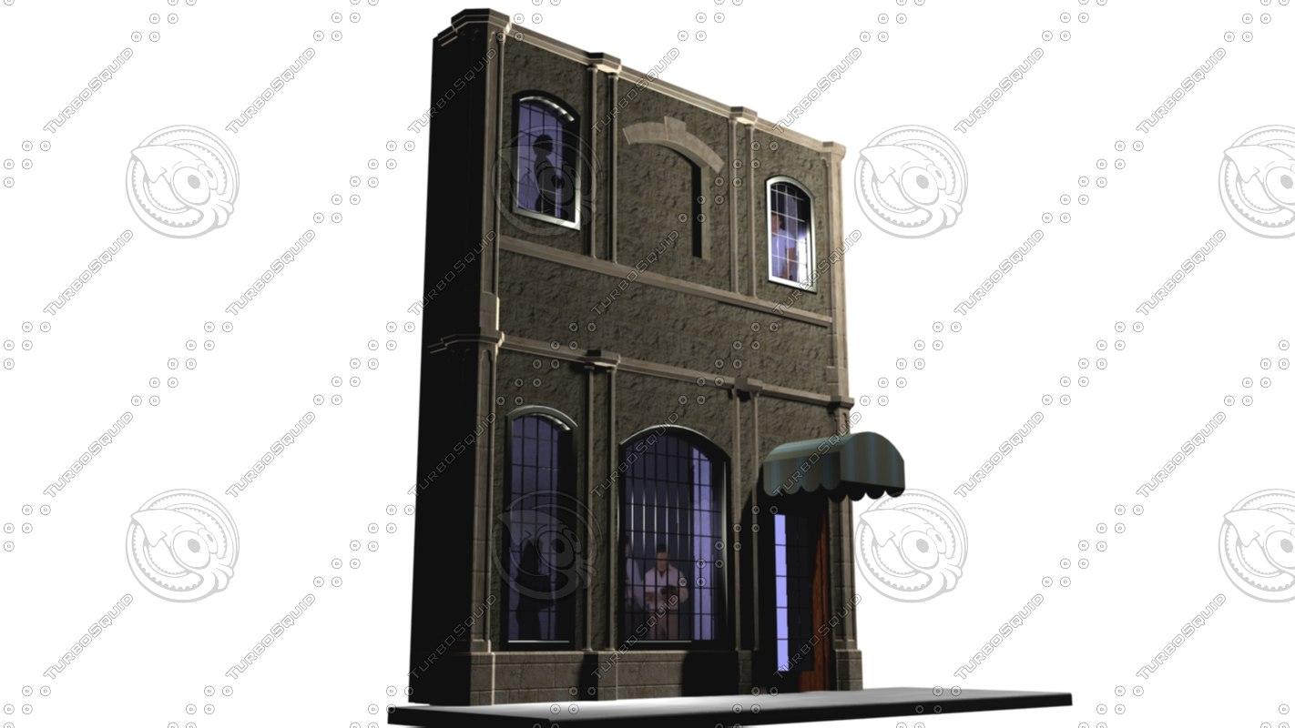 3d model of facade