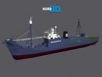 3d model of whale boat