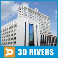 3d white house russian building