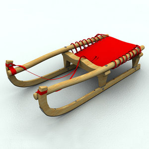 3d sledge winter model