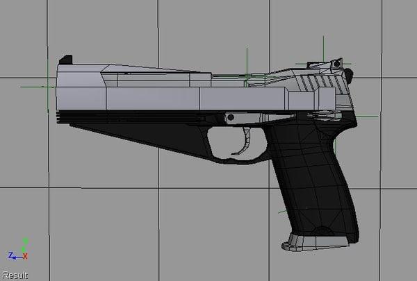 ares pistol 3d model