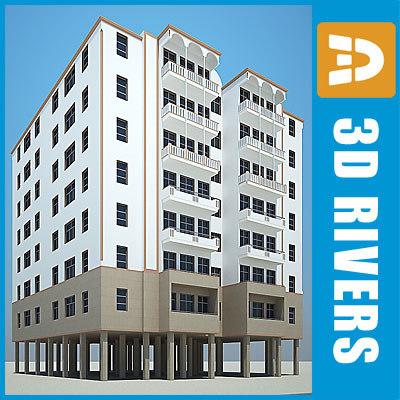 3d apartment building house 18 model