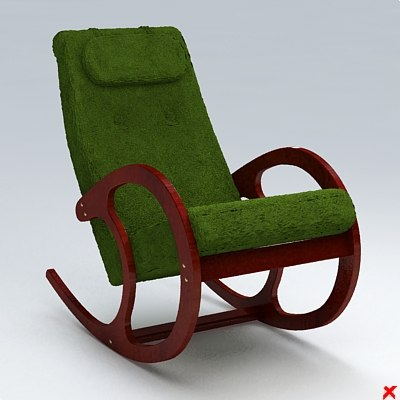 3d model chair rocking