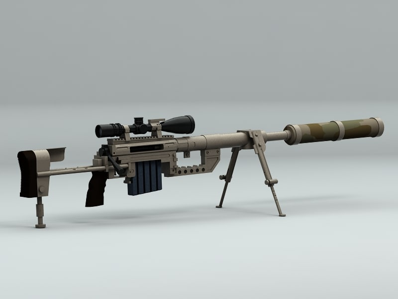 3d model sniper rifle chey tac