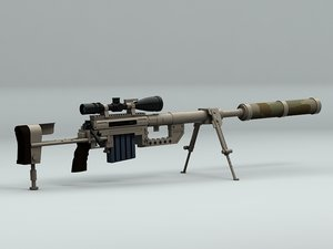 3d model sniper rifle chey tac